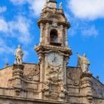 Valencia Santos Juanes church facade Spain — Stock Photo #43335317