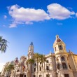 Valencia Ayuntamiento city town hall building Spain — Stock Photo #43339505