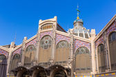 Valencia Mercado Central market facade Spain — Stock Photo