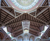 Valencia Mercado Central market dome indoor detail Spain — Stockfoto