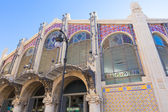 Valencia Mercado Central market main facade Spain — Stock Photo