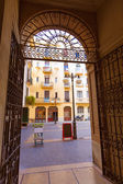 Valenciano milagro del mocaoret plaza centro — Foto de Stock