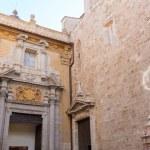 Valencia San Martin church facade of Spain — Stock Photo #43343451