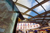 Valencia Plaza Redonda is a round square in Spain — Stock Photo