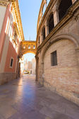 Valencia corridor arch between Cathedral and Basilica Spain — Stockfoto