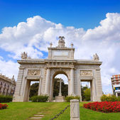 Valencia Porta Puerta del mar door square Spain — Foto de Stock