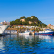 Denia Port with castle hill Alicante province Spain — Stock Photo #44037309