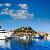 Denia Port with castle hill Alicante province Spain — Stock Photo