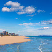 Gandia beach in mediterranean sea — Stock Photo