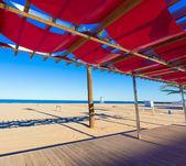 Gandia beach in Valencia at Mediterranean Spain — Stock Photo