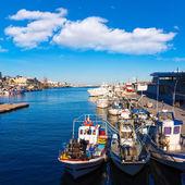 Gandia port puerto Valencia in Mediterranean Spain — 图库照片