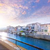 Gandia port Valencia sunset Mediterranean Spain — Stok fotoğraf