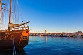 Gandia port puerto Valencia in Mediterranean Spain — Photo