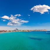 Javea śródziemnego playa del arenal w śródziemnomorskiej hiszpania — Zdjęcie stockowe
