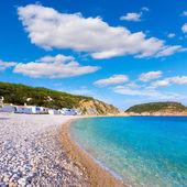 Javea Xabia Playa la Barraca Cala Portichol Alicante — Foto Stock