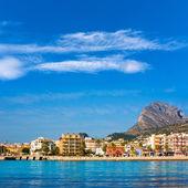 Javea śródziemnego panoramę morza śródziemnego hiszpania — Zdjęcie stockowe