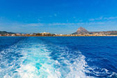 Javea Xabia skyline from Mediterranean sea Spain — Stock Photo