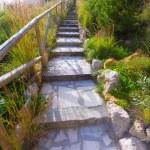 Javea Playa Ambolo beach stairway in Alicante — Stock Photo #44063227