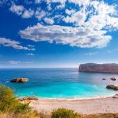 Javea playa ambolo stranden xabia i alicante — Stockfoto