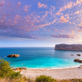 Javea Playa Ambolo beach Xabia in Alicante — Stock Photo