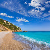 Javea playa ambolo strand xabia in alicante — Stockfoto