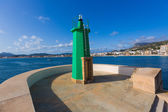 Javea Xabia green lighthouse beacon Alicante Spain — Stock Photo