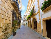 Javea xabia 旧城区街道在西班牙阿利坎特 — 图库照片