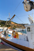 Javea Xabia fisherboats in port at Alicante Spain — Stock Photo