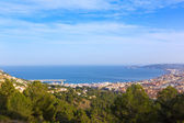 Javea Xabia aerial skyline from Molins Alicante Spain — Stock Photo