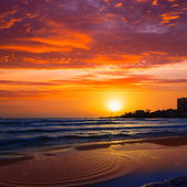 Javea El Arenal beach sunrise Mediterranean Spain — Stock Photo
