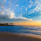 Javea El Arenal beach sunrise Mediterranean Spain — Stock Photo