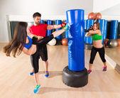 Boxing aerobox women group personal trainer — Stock Photo