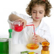 Girl pretending to be doctor in laboratory — Photo #5512819