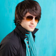British indie pop rock look retro hip young man — Stock Photo #9859165