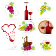 Royalty-Free Stock Imagen vectorial: Design elements of the icon wines