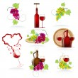 Stock Vector: Design elements of the icon wines
