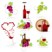 Design elements of the icon wines — Stock Vector