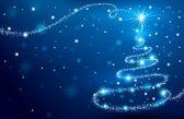 Der magic christmas tree — Stockvektor