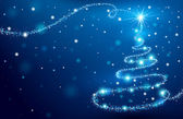 L'arbre de noël magique — Vecteur