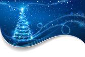 El árbol de navidad mágica — Vector de stock