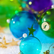Christmas colored balls — Stock Photo