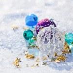 Christmas colored balls — Stock Photo