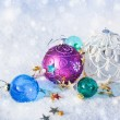 Christmas colored balls - Stock Photo