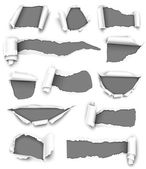 Gray paper — Stock Vector