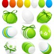 Collection of Easter eggs - Stock Vector
