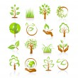Set of nature icons — Stock Vector #22784036