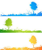 Set of colored trees — Stock Vector