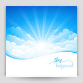 Sky background — Stock Vector