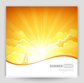 Sunny background — Stock Vector