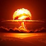 explosión nuclear — Vector de stock  #24245531